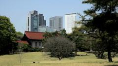 Shinjuku Gyoen National Park Urban area garden Tokyo Japan Stock Footage