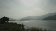 Lake Kawaguti fish eye cloudy sky 02, non color grade Full HD (1920x1080) Stock Footage