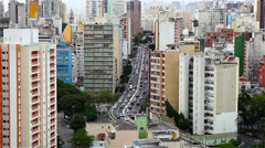 Main road through Sao Paulo city Brazil Stock Footage