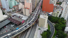 Sao Paulo Traffic jam - stock footage