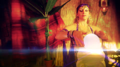 FOrtune teller gypsy 1 Stock Footage