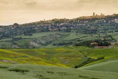 Tuscany landscape around Pienza, Val d'Orcia, Italy Stock Photos