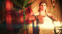 FOrtune teller gypsy 2 Stock Footage