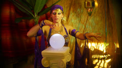 Fortune teller normal Stock Footage