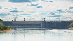 Dam on the river Stock Footage