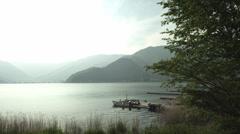 Lake Kawaguti peaceful scean, color graded Full HD (1920x1080) Stock Footage