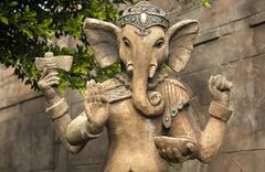 ganesh sculpture - stock photo