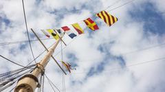 Nautical flags Stock Photos