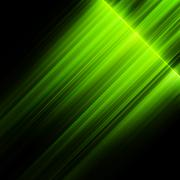 Green northern lights, aurora borealis. EPS 10 - stock illustration