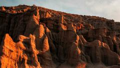 Red Rock Canyon Buttes Cliffs sunlight Timelapse Stock Footage