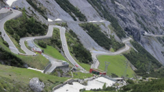 Stelvio pass in Italy with motorcycle drivers Stock Footage