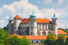 Stock Photo of view of nowy wisnicz castle, poland