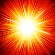 Star burst red and yellow fire. EPS 10 - stock illustration