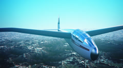 Sailplane over snow capped mountains. Stock Footage