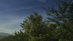 Lake kawaguchi refreshing blue sky, color graded Full HD (1920x1080) Stock Footage