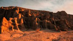 Sunrise Sunset Red Rock Canyon Cliffs Timelapse Buttes Stock Footage