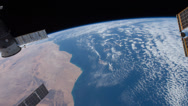 Stock Video Footage of 4K UHD International Space Station from Western Africa to Northern Kazakhstan