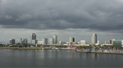 Stormy Clouds over Long Beach Time Lapse Loop Stock Footage