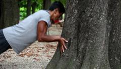 Parkour Strengthening Exercises Stock Footage