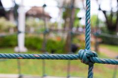 rope frame knot corner - stock photo