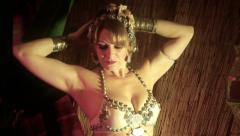 Belly dancer distorted artistic Stock Footage