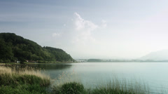 Peaceful lake side Kawaguchi, color graded 4K (3840x2160) Stock Footage