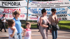 Buenos Aires - Falklands/Malvinas banners Stock Footage