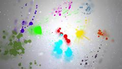 Paint drops over glass colorful - Full HD Stock Footage