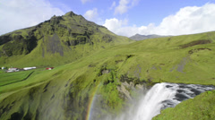 Skogafoss cinemagraph - stock footage