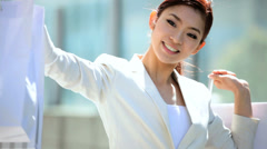 Asian Japanese Girl Retail Sales Financial Growth Success Asia Travel Tourism - stock footage