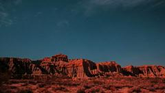 Stars Timelapse over Red Rock Canyon Cliffs buttes Stock Footage
