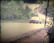 SUPER 8 MEXICO 1979 cadillac driving on the road 2 Stock Footage