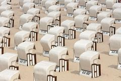 Stock Photo of beach chairs, baltic sea