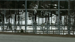 Tignes hydro electric station 04 Stock Footage