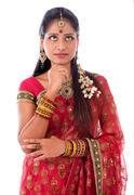 Indian girl thinking Kuvituskuvat