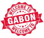 Stock Illustration of welcome to gabon red grungy vintage isolated seal