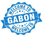 Stock Illustration of welcome to gabon blue grungy vintage isolated seal