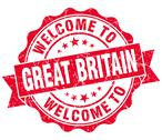 Stock Illustration of welcome to great britain red grungy vintage isolated seal