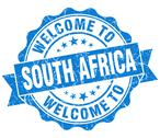 Stock Illustration of welcome to south africa blue grungy vintage isolated seal