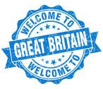 Stock Illustration of welcome to great britain blue grungy vintage isolated seal