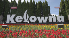 Welcome To Kelowna Stock Footage