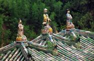 Stock Photo of human figurines adorning the roof of summer palace