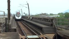 MTR Arriving Hong Kong Stock Footage