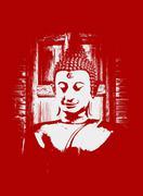 art. buddha,buddha statue - stock illustration