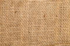 Background of burlap hessian sacking, coarse cloth made of linen Stock Photos