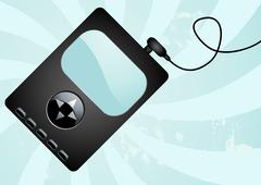 Mp3 player Stock Illustration