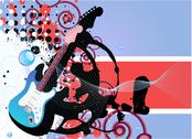Stock Illustration of guitar background