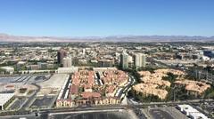 Aerial view of Las Vegas town Stock Footage