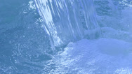 Stock Video Footage of blue waterfall closeup