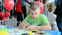 International Childrens day in Kiev, Ukraine. Stock Footage
